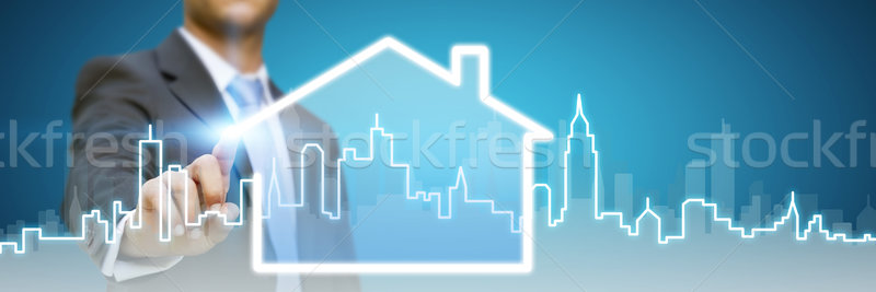 Businessman real estate Stock photo © sdecoret