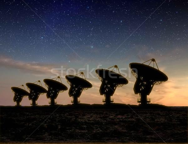 радио телескопом мнение ночь молочный способом Сток-фото © sdecoret