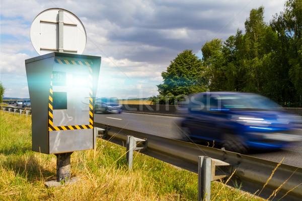 Automático velocidad cámara radar coches Foto stock © sdecoret