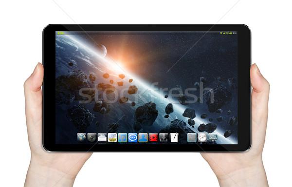 Modernes numérique comprimé blanche affaires téléphone Photo stock © sdecoret