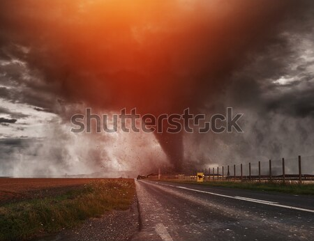 Large Tornado disaster Stock photo © sdecoret