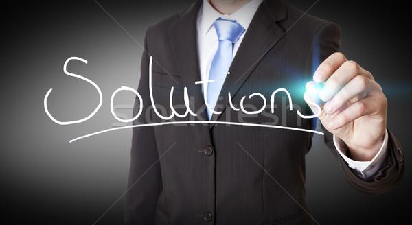 Businessman impossible solution concept Stock photo © sdecoret