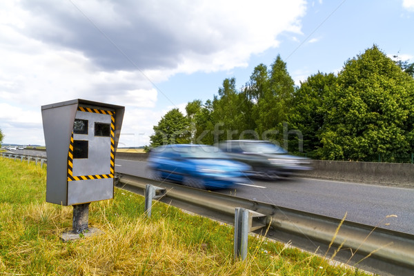 Automatic speed camera Stock photo © sdecoret