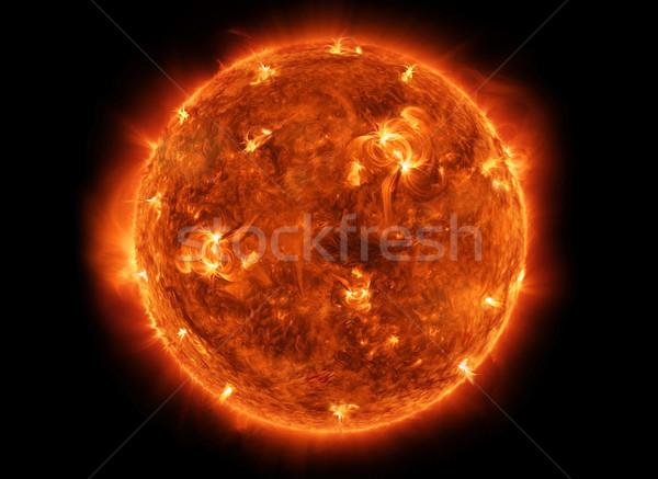 Erőteljes nap űr közelkép kilátás égő Stock fotó © sdecoret