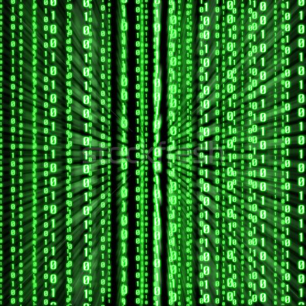 Zielone kod binarny linie cyfrowe komputera Internetu Zdjęcia stock © sdecoret