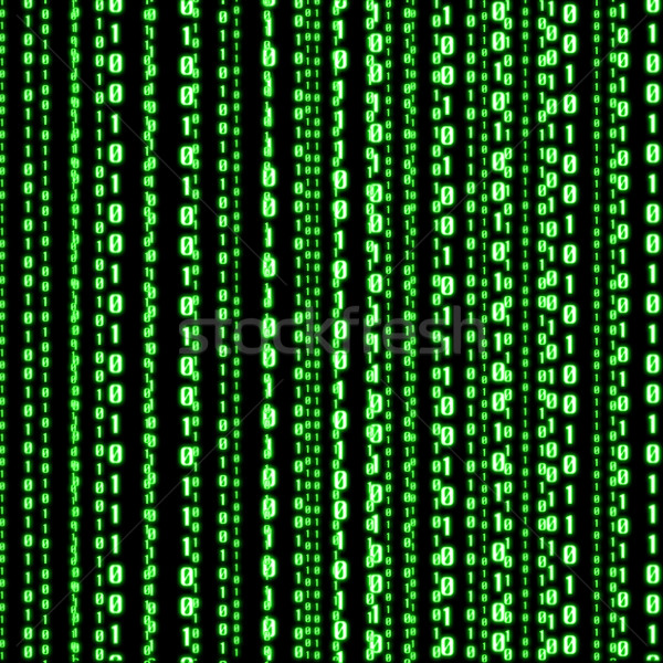 Verde código binario líneas digital Internet tecnología Foto stock © sdecoret