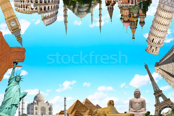 ünlü anıtlar dünya toprak yaz seyahat Stok fotoğraf © sdecoret