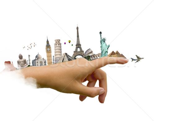 Anıtlar dünya kadın el örnek ünlü Stok fotoğraf © sdecoret