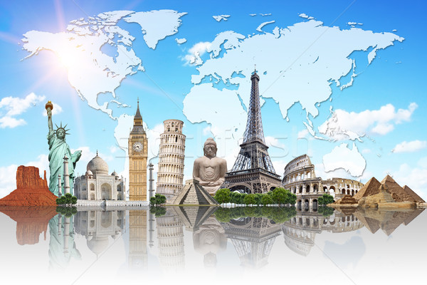 Travel the world monuments concept Stock photo © sdecoret