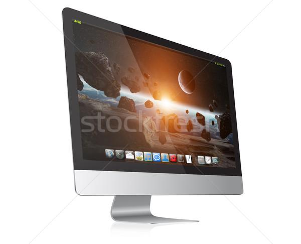 современных компьютер цифровой белый бизнеса Сток-фото © sdecoret
