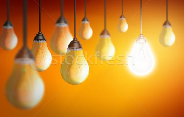 красочный лампочка иллюстрация свет стекла Сток-фото © sdecoret
