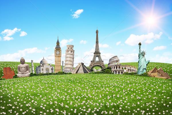 Viaje mundo monumentos famoso vacaciones primavera Foto stock © sdecoret