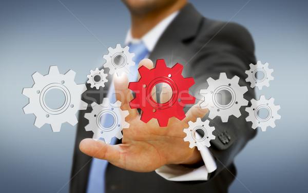 Businessman gears concept Stock photo © sdecoret