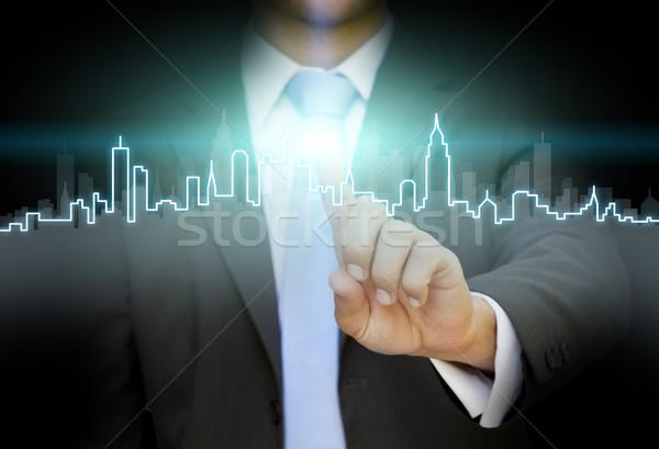 Businessman realestate concept Stock photo © sdecoret