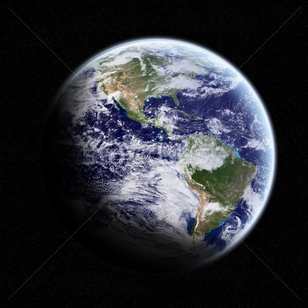 表示 地球 スペース 空 世界中 太陽 ストックフォト © sdecoret