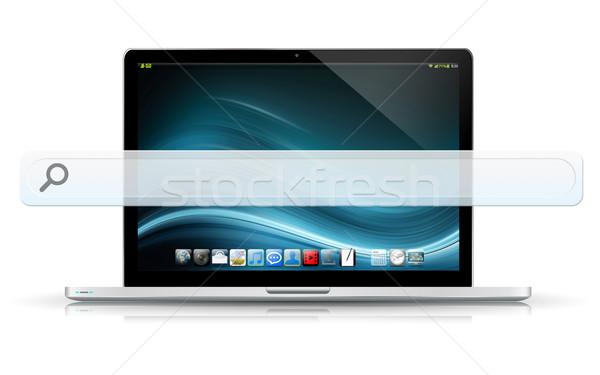 Modern laptop computer with empty web bar Stock photo © sdecoret