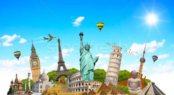 известный памятники Мир земле лет путешествия Сток-фото © sdecoret