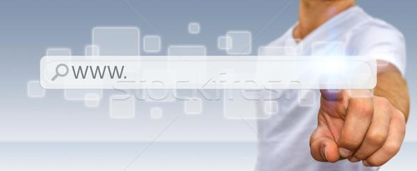 Mann Surfen Internet digitalen Web Anschrift Stock foto © sdecoret