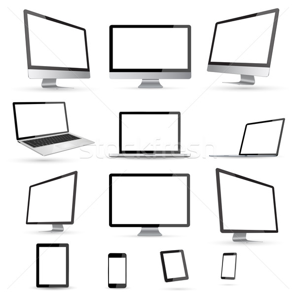 Modern digital tech device collection Stock photo © sdecoret