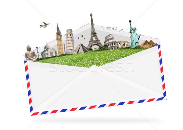 örnek zarf tok ünlü anıtlar dünya Stok fotoğraf © sdecoret