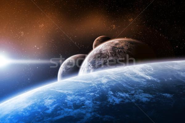 Napfelkelte bolygó űr kilátás nap naplemente Stock fotó © sdecoret