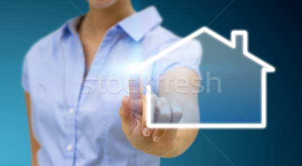 Bussinesswoman real estate concept Stock photo © sdecoret