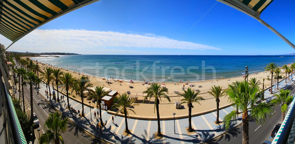 View of Platja Llarga beach in Salou Spain Stock photo © sdecoret