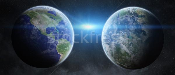Aarde ruimte aarde sluiten zon Stockfoto © sdecoret