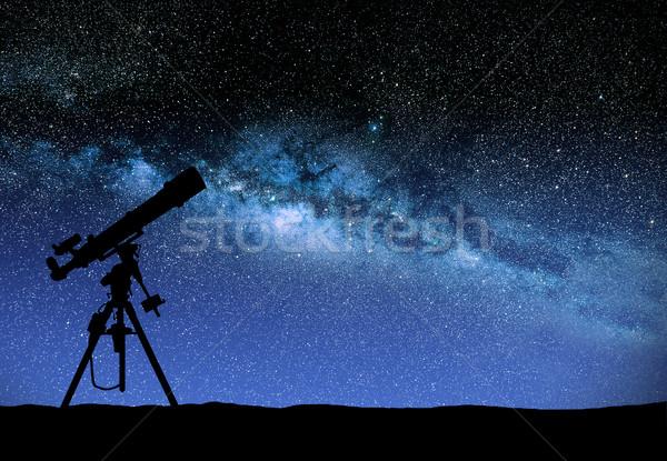 Telescoop kijken manier illustratie hemel wereld Stockfoto © sdecoret