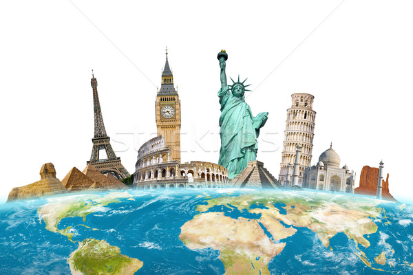 Famous monuments of the world Stock photo © sdecoret
