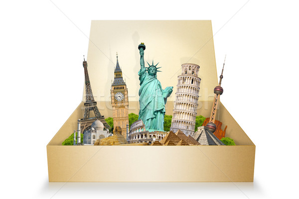 Famous monuments of the world Stock photo © sdecoret
