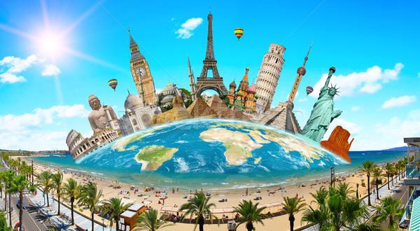 Monuments of the world Stock photo © sdecoret