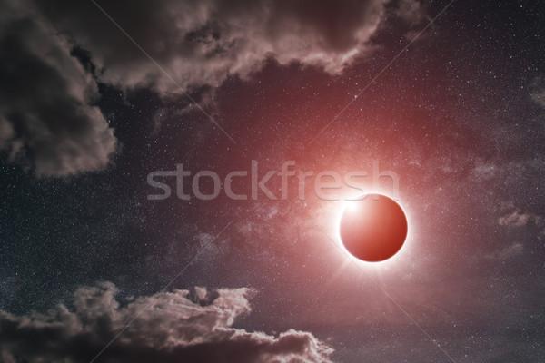 日食 地球 表示 太陽 満月 世界中 ストックフォト © sdecoret