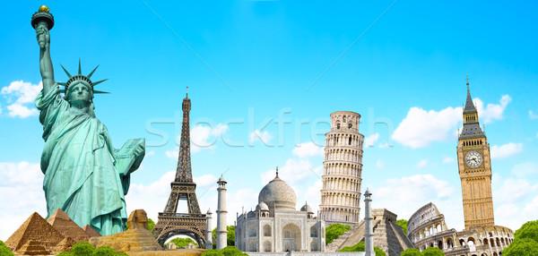 ünlü dünya anıtlar toprak yaz seyahat Stok fotoğraf © sdecoret