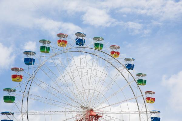 Wiel blauwe hemel hemel Blauw park Stockfoto © sdenness