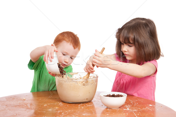 Nem leírás család lány gyerekek gyermek Stock fotó © sdenness