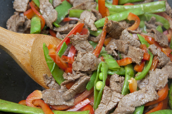 Stock photo: Meat and Vegetable Stir-fry