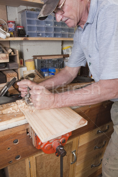 Routing plane carpentry Stock photo © sdenness
