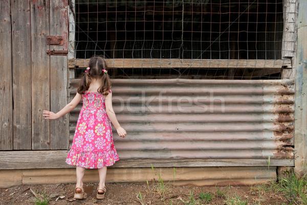 Kız keşfetmek eski genç kadın elbise Stok fotoğraf © sdenness