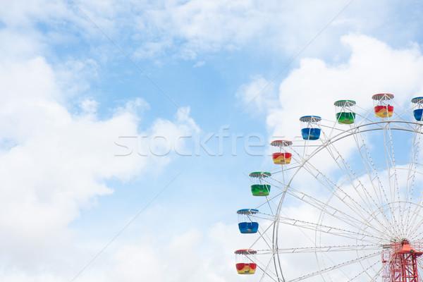 Kerék égbolt kék ég felhők kék Stock fotó © sdenness