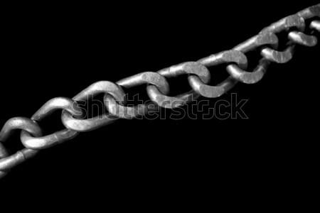 Lastik zincir linkler dışarı yalıtılmış Stok fotoğraf © searagen