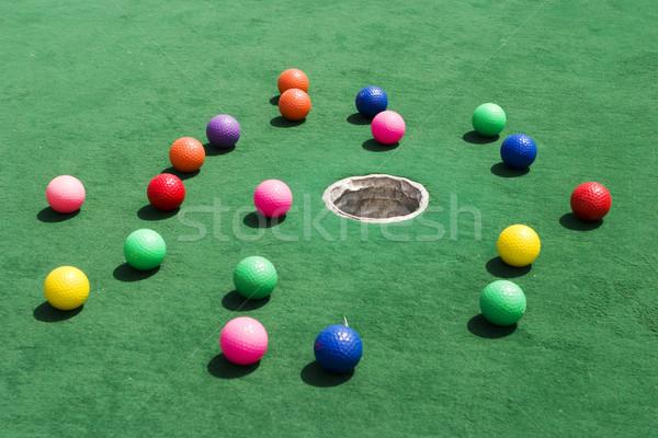 Scattered Golf Balls Stock photo © searagen