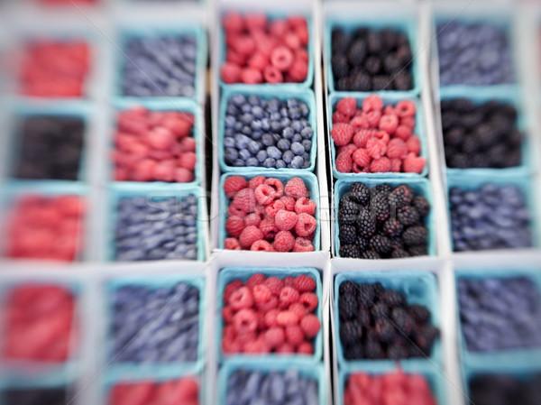 Baskets of Berries Stock photo © searagen