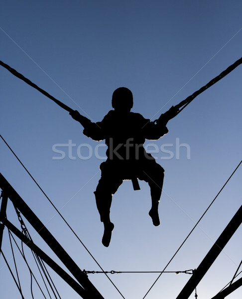 Bungee Jump Silhouette Stock photo © searagen