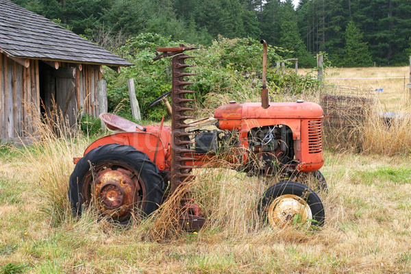 Old Red Tractor Stock photo © searagen