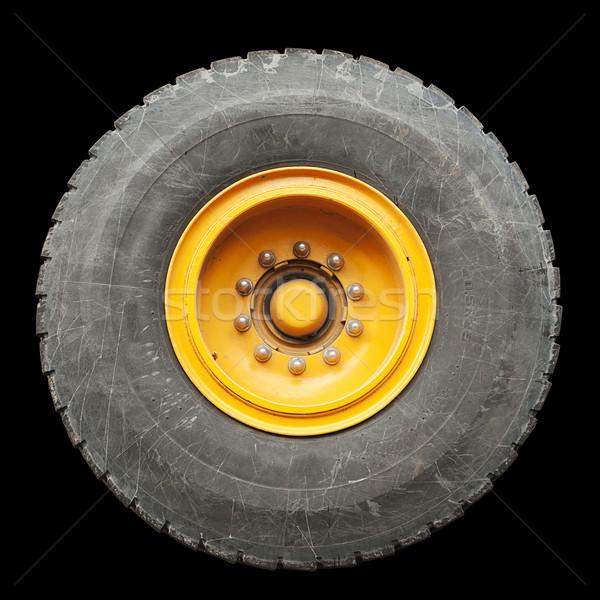 Geïsoleerd vrachtwagen band groot mobiele kraan Stockfoto © searagen