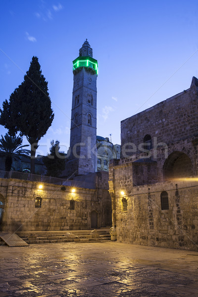 Minaret At Night Stock photo © searagen