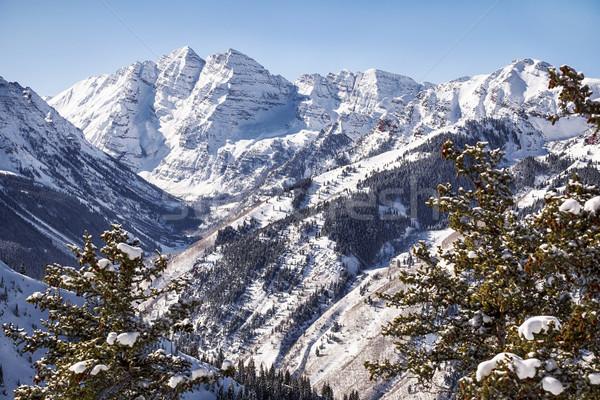 Montanhas marrom vale ver paisagem olhando Foto stock © searagen