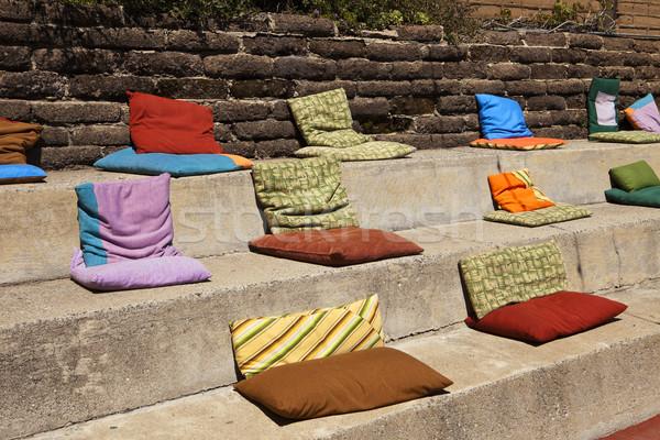 Almohadas concretas pasos suave colorido forma Foto stock © searagen