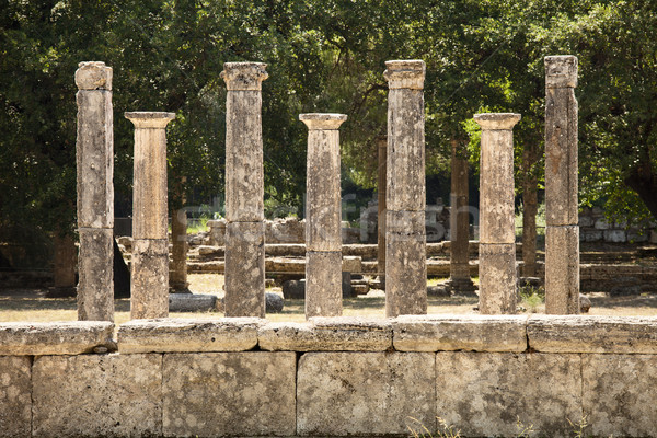 Seven Greek Pillars At Olympus Stock photo © searagen